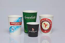 Бумажные стаканы с логотипом
