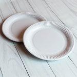 Бумажная тарелка 23 см белая ламинированная