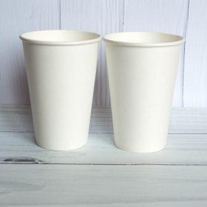 Бумажный стаканчик 340 белый