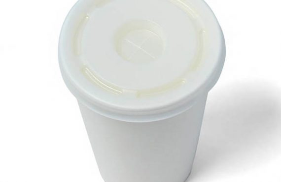 Крышка белая для холодных напитков