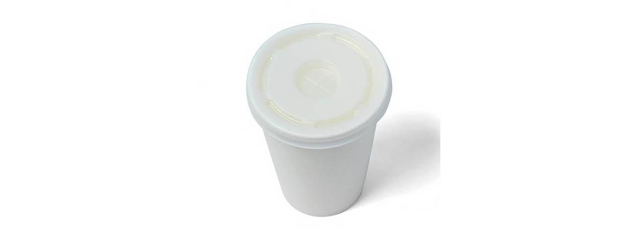 Кришка біла для холодних напоїв