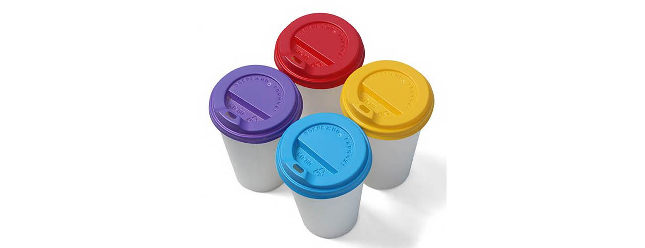 Кришки кольорові для горячих напоїв