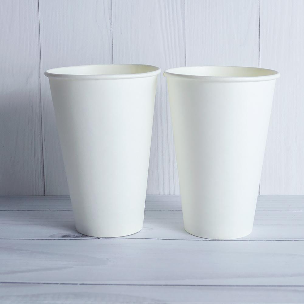 Бумажный стаканчик 520 мл белый. 600 шт/ящ