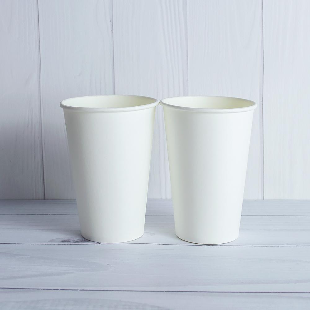 Бумажный стаканчик 340 мл белый. 1750 шт/ящ