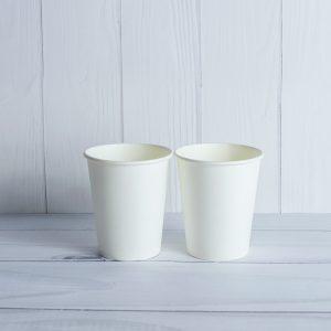 Бумажный стаканчик 185 белый