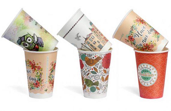 Бумажные стаканчики для чая и кофе