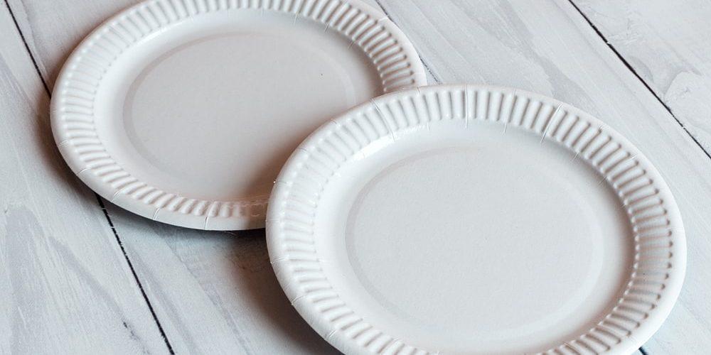 Тарілка 18 см біла