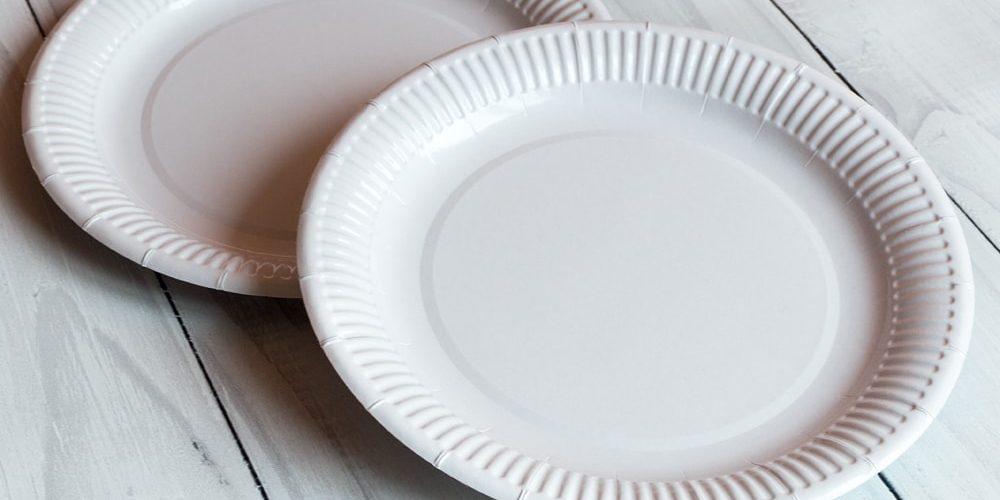 Тарілка 23 см біла