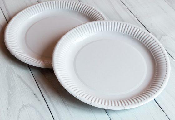 Тарелка 23 см белая