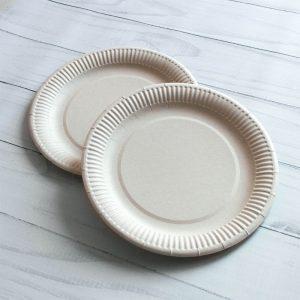 Бумажная тарелка 23 см белая ламинированая (Акция)