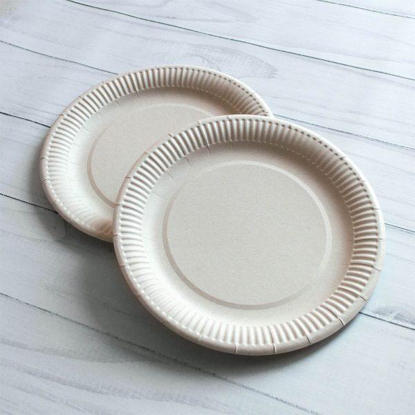 Бумажная тарелка 23 см без ламинации (Акция)