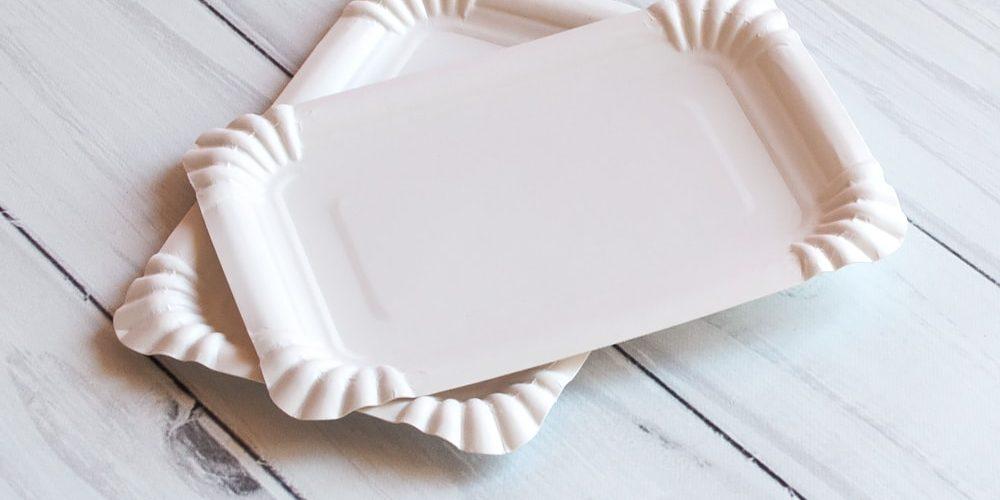 Тарілка 12*17 біла