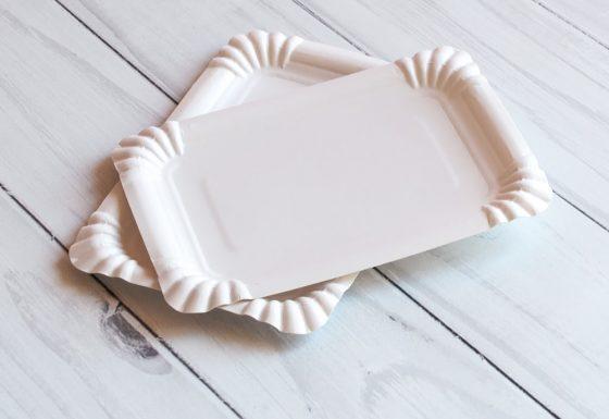 Тарелка 12*17 белая