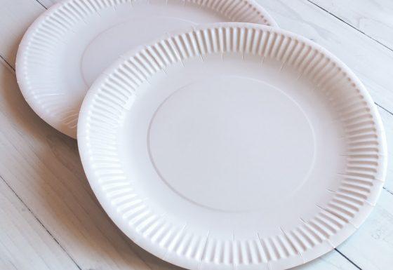 Тарелка 30 см белая