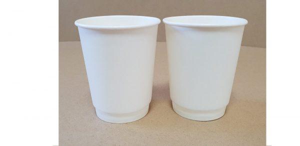Бумажный двухслойный стаканчик 250 белый