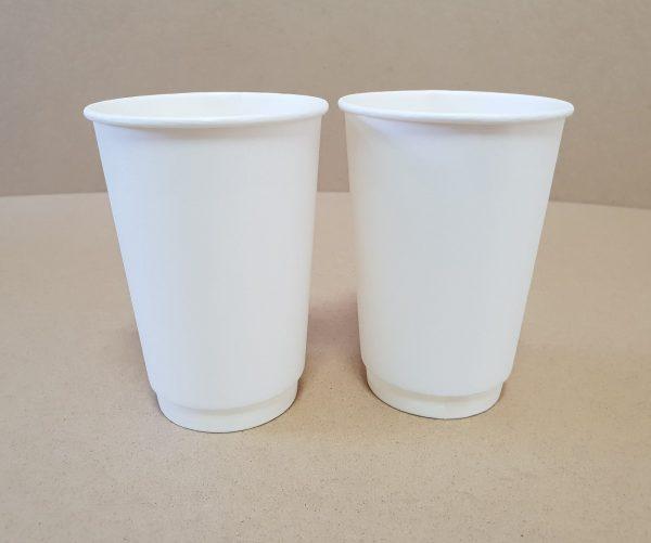 Бумажный двухслойный стаканчик 340 белый