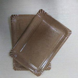 Паперова тарілка 15*22 см Крафт