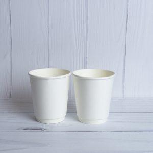 Бумажный двухслойный стакан 185 мл. Белый