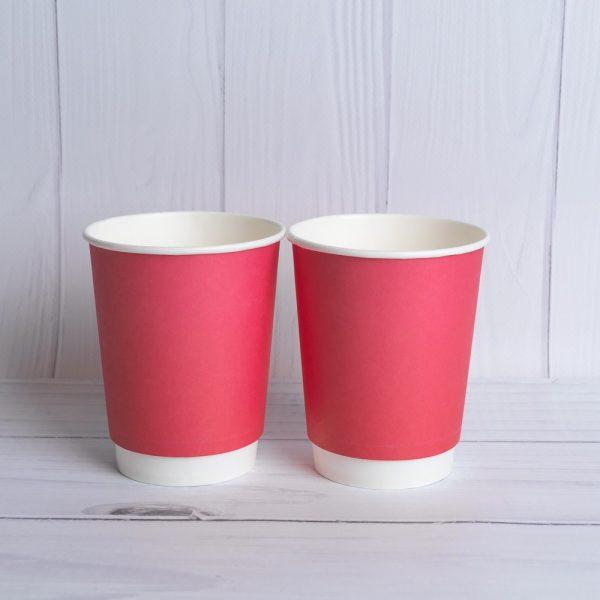 Бумажный двухслойный стакан 250 мл. Стандартный рисунок (Распродажа)