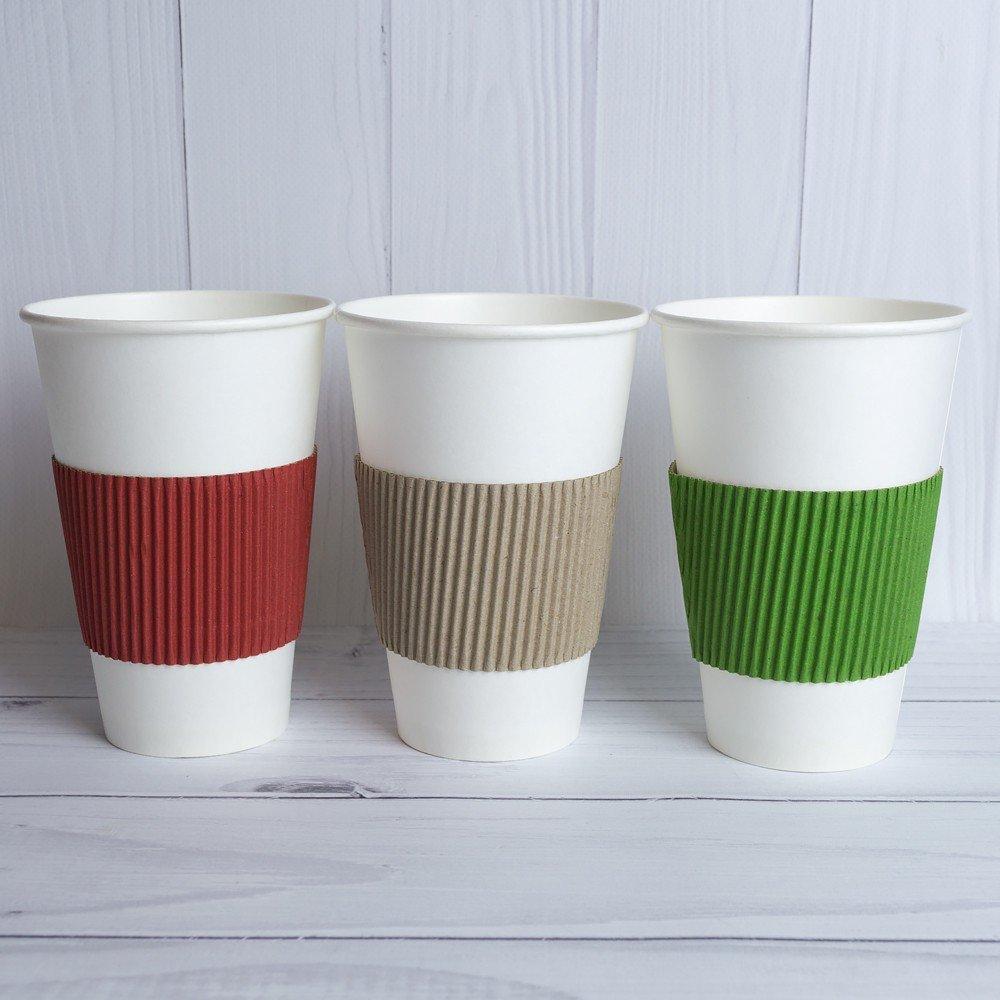Термочехол для бумажных стаканчиков цветной гофрированный 0.5. 1000 шт/ящ