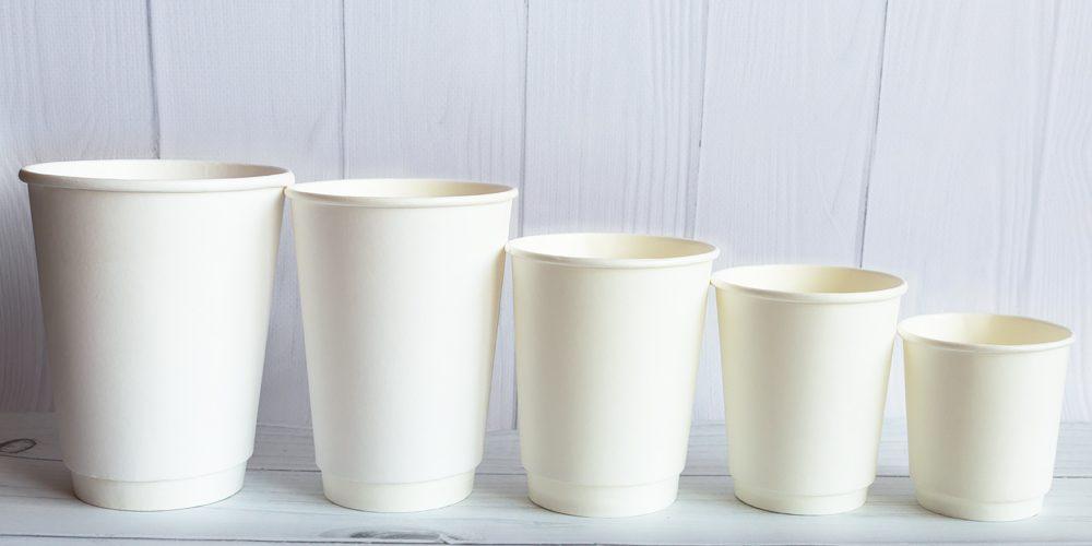 Двухслойные стаканы. Белые