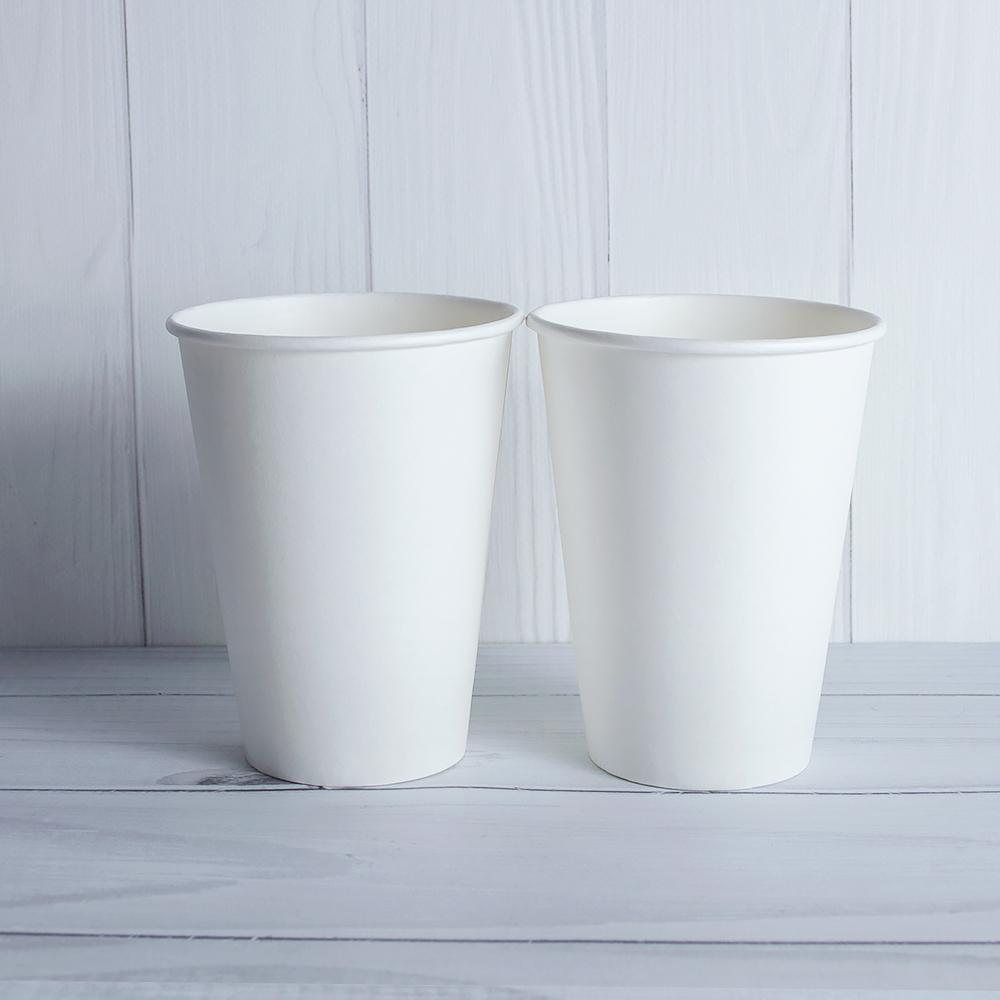 Бумажный стаканчик 400 мл белый. 700 шт/ящ